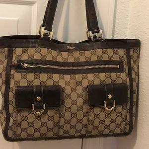 Gucci Classic Canvas Shoulder Bag